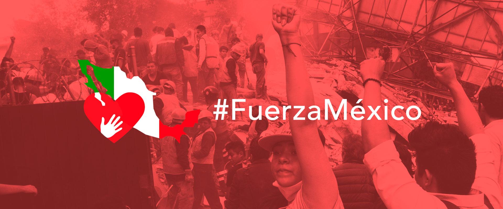 Campaña de Fuerza México por los afectados por el sismo del 19 de septiembre 2017.