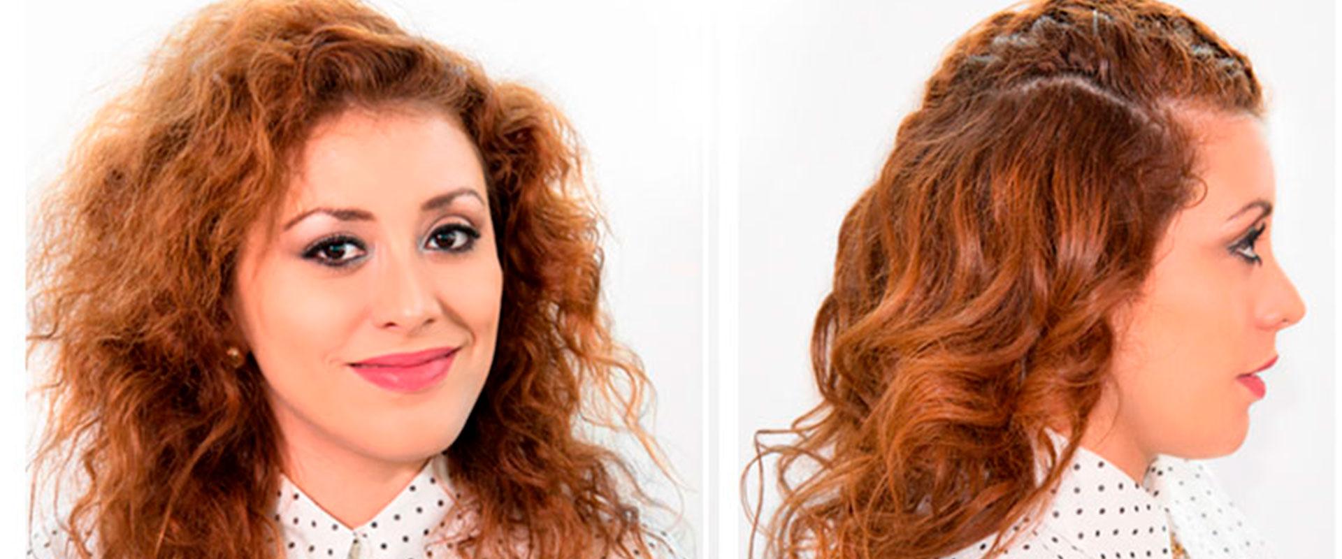 Mujer luciendo un peinado con ondas hecho con InStyler.
