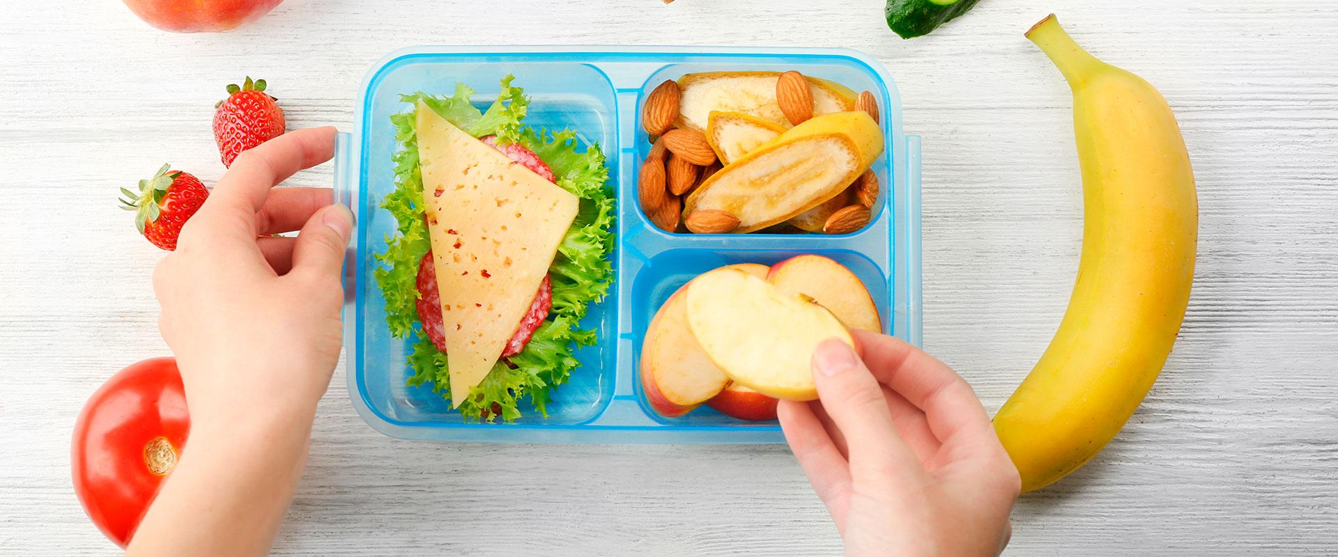 Fotografía de lunchs saludables.