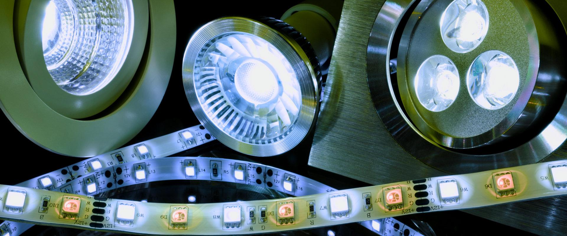 Diferentes tipos de luces LED