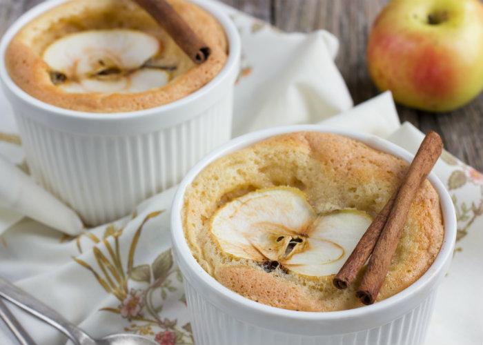 Souffle de manzana sin calorías