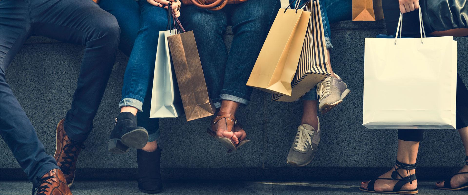 Personas comprando en el Buen Fin 2019.
